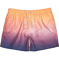 Peach dip dye swim shorts