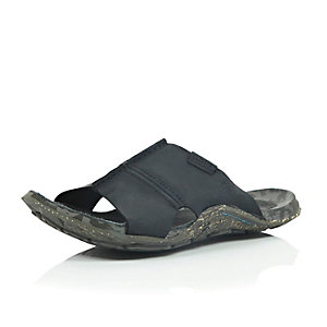 Black Cushe leather sandals