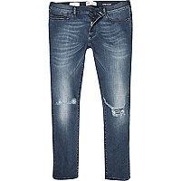 Mid wash distressed Danny superskinny jeans