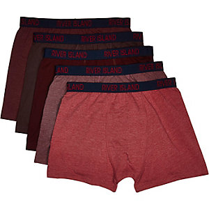Dark red RI boxer shorts pack