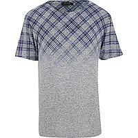 Grey tartan fade t-shirt