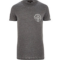 Dark grey burnout San Francisco t-shirt