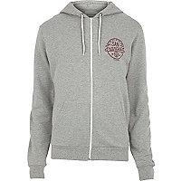Grey marl San Francisco print hoodie
