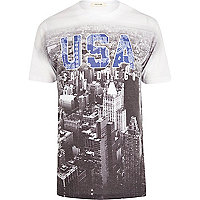 White USA bandana print t-shirt