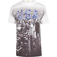 White USA bandana print t-shirt