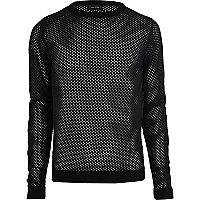Black mesh jumper