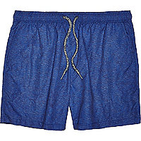 Blue marl swim shorts