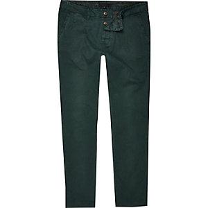 Green slim chinos