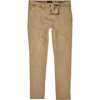 Light brown slim chinos