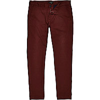 Brown rust skinny chinos