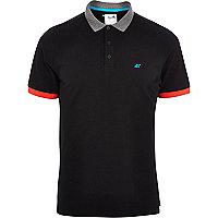 Black Boxfresh contrast polo shirt