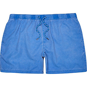 Blue drawstring swim shorts