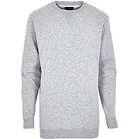 Grey longer length sweatshirt