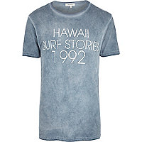 Grey Hawaii Surf Stories print t-shirt