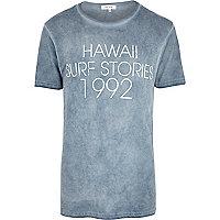 Grey Hawaii Surf Stories print t-shirt