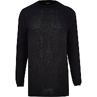 Black zip trim longer length jumper