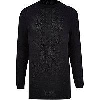 Black zip trim longer length jumper
