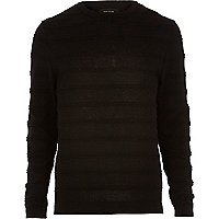 Black ripple stitch jumper