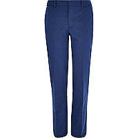 Blue smart slim trousers