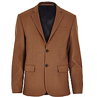 Brown woolen blazer