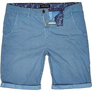 Blue vertical stripe shorts