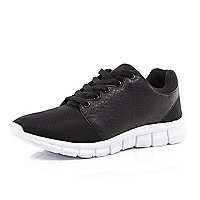 Black snake print trainers