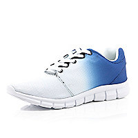 Blue gradient lace up trainers