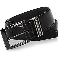 Black gunmetal tone belt