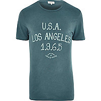 Teal U.S.A Los Angeles t-shirt