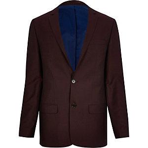 Red slim suit jacket