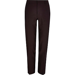 Red slim suit trousers
