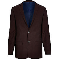 Red skinny suit jacket