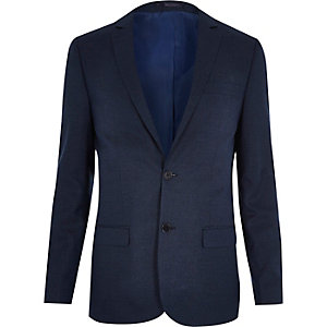 Blue skinny suit jacket