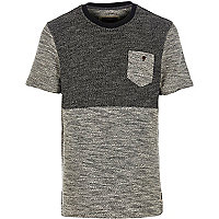 Black Holloway Road contrast knitted t-shirt