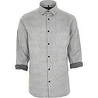Grey reverse texture shirt