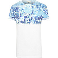 White New York graphic print fade t-shirt