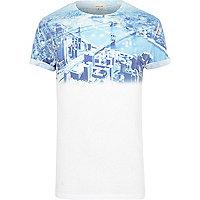 White New York graphic print fade t-shirt