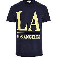 Navy LA print t-shirt