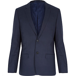 Petrol blue slim suit blazer