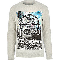 Ecru Amsterdam print sweatshirt