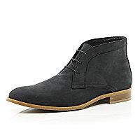 Black nubuck chukka boots