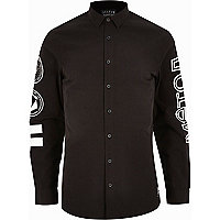 Black Systvm printed long sleeve shirt
