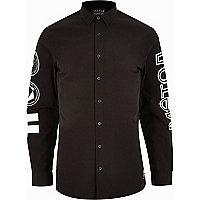 Black Systvm printed long sleeve shirt