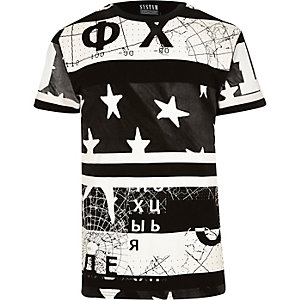 Black Systvm monochrome print t-shirt