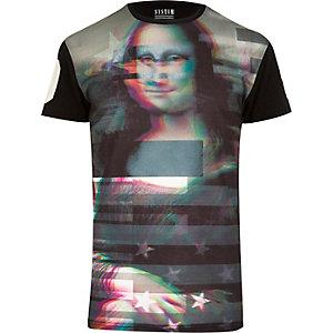 Black Systvm art print t-shirt