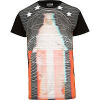 Black Systvm symbol print t-shirt
