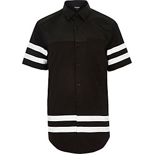 Black Jaded 88 logo longer length shirt
