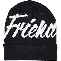 Black Friend or Faux beanie hat