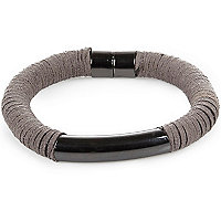 Grey soft metal trim bangle