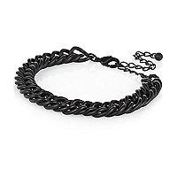 Black matte chunky chain bracelet